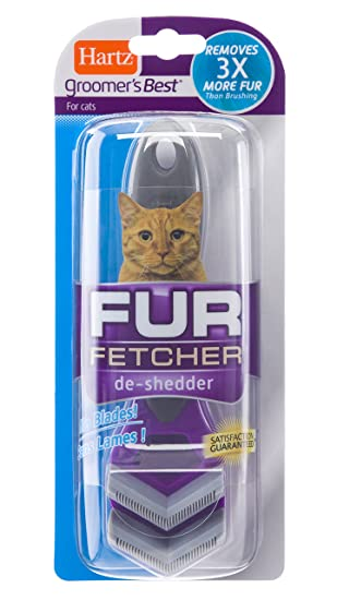 Hartz Groomers Best Fur Fetcher De-Shedder Cat Brush