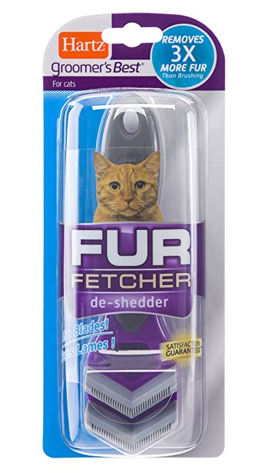 Amazon.com : Hartz Groomers Best Fur Fetcher De-Shedder Cat Brush : Pet Supplies