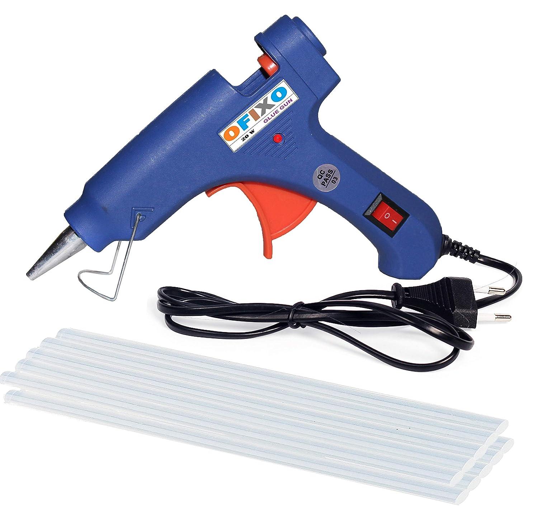 Ofixo 20W 10 Glue Sticks Hot Melt Glue Gun Kit (Multicolor)