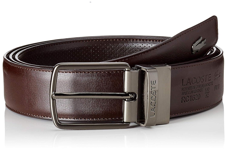 53ecbebc1d22ef Lacoste Men s Reversible Punched Leather Belt