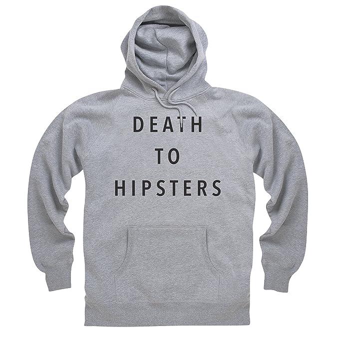 Death to Hipsters Sudadera con capucha, Para hombre: Amazon.es: Ropa y accesorios