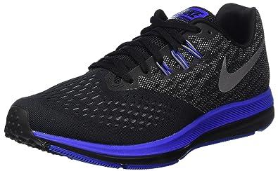 best sneakers 234f7 4d376 Nike Men's Zoom Winflo 4 Black/Metallic/Silver Running Shoe ...