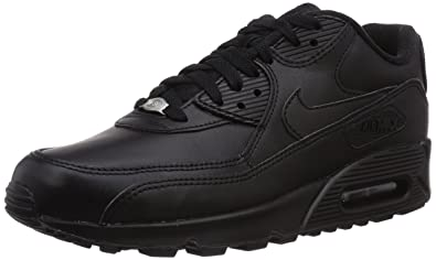sports shoes ea789 d1a19 Nike Air Max 90 Leather, Baskets mode homme, Noir (Black Black 001