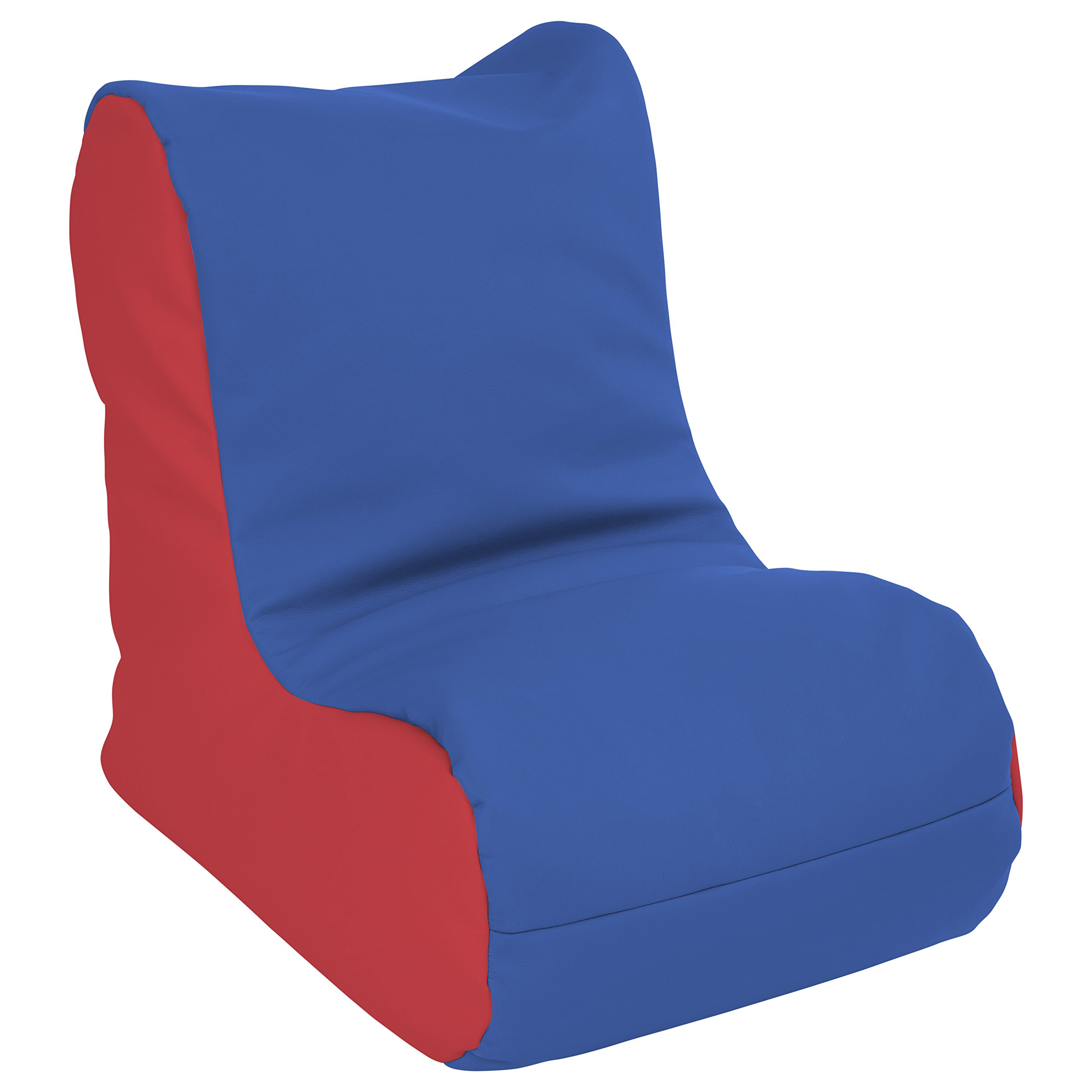 ECR4Kids SoftZone Toddler Bean Bag Soft Seat, Blue and Red