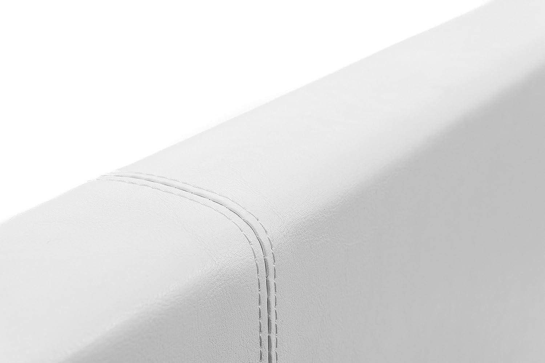 160x200 Bianco Lo Spazio di archiviazione 800 litro Removibile Testate Luna Ottoman EuropeDirectShopping Telaio per Il Letto