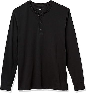 Goodthreads Mens Standard Cotton Long-Sleeve Henley