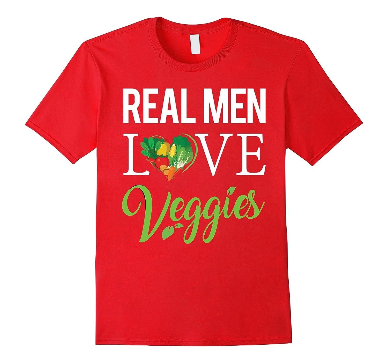 Vegan Life T Shirt Real Men Love Veggies Shirt-Art