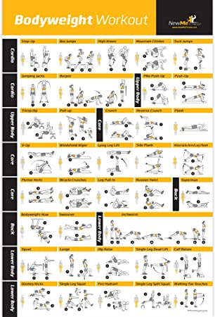 NewMe Fitness Bodyweight Exercise Poster Total Body Workout 500 x 700