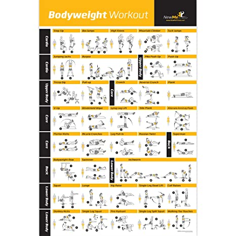 NewMe Fitness Bodyweight Exercise Poster