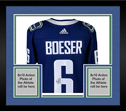 Framed Brock Boeser Vancouver Canucks Autographed Blue Adidas Authentic  Jersey - Fanatics Authentic Certified a03486bd4