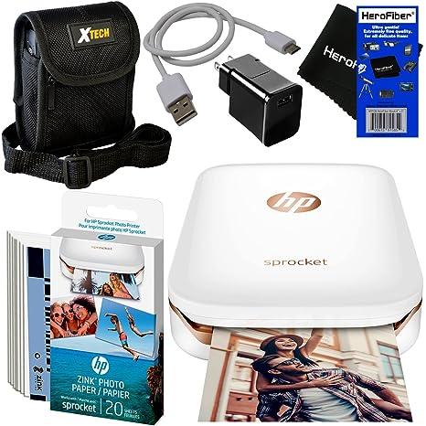 Impresora de fotos HP Sprocket, impresión de fotos de medios ...