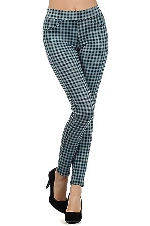 97b3c87efbec9 fashion MIC Women s Checkered Slim Fit Pants at Amazon Women s ...