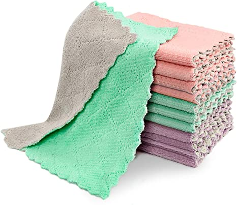 Household Super Absorbent Microfiber Towel Kitchen Cleaning Cloth Dish Cloth