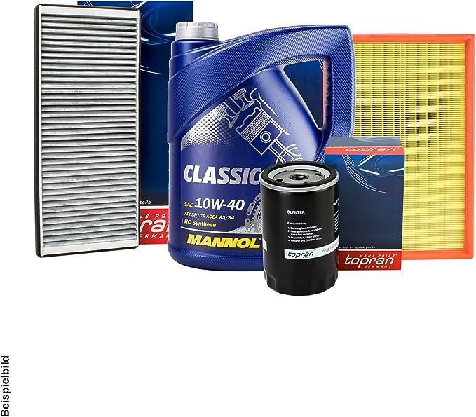 Topran Filter Set Inspektionspaket 5l Mannol 10w 40 Auto