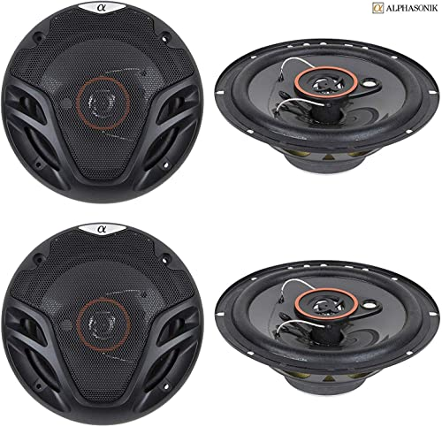 4 New (2 Pairs) Alphasonik AS26 6.5 inch 350 Watts Max 3