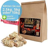 Panorama24 Kamin-Anzünder und Grill-Anzünder (Ofen-anzünder, Anzündwolle, Anzündhilfe) aus Bio Holz-Wolle und Wachs - schnell und umweltfreundlich
