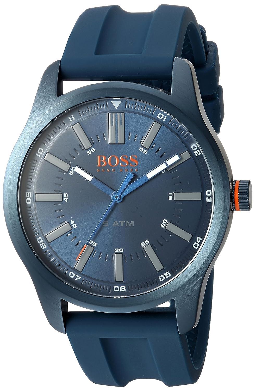 HUGO BOSS Men's 'Dublin' Quartz Stainless Steel and Rubber Casual Watch, Color:Blue (Model: 1550046)