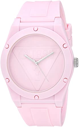 83f859d3c GUESS Iconcic PInk Retro Pop Logo Stain Resistant Silicone Watch. Color:  Pink (Model