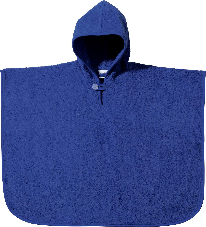 Kinderbutt Poncho Frottier blau Größe 50x70 cm 330409