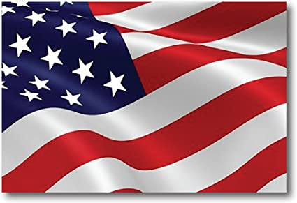 Amazon.com: Waving American Flag Car Magnet Decal - 4 x 6 Heavy ...