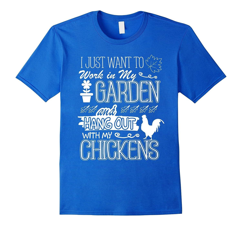 Funny Gardening Chicken Gifts T Shirt Chiken Lover Gardening-AZP