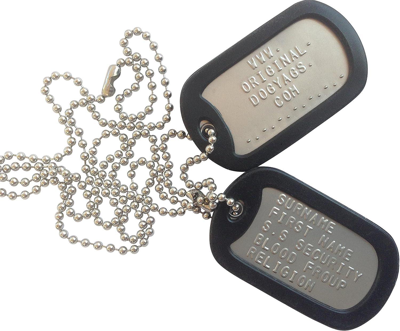 ANDREW Chapas Militares Dog Tag Personalizadas Mate: Amazon.es: Productos para mascotas