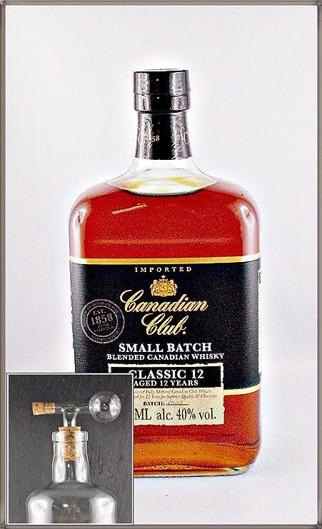 Canadian Club 12 Jahre Small Batch kanadischer Whisky & 1 Flaschenportionierer aus Glas, kostenloser Versand