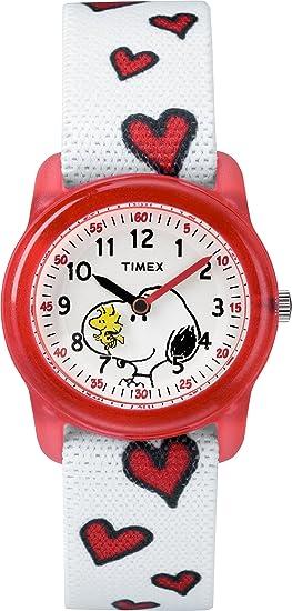 Timex Reloj Aprende la Hora para Niñas de Cuarzo con Correa en Nailon TW2R41600