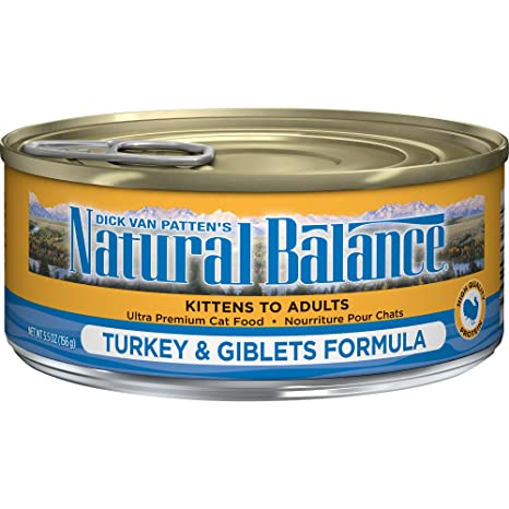 natural balance turkey giblets formula wet cat food 5 5 ounce can pack