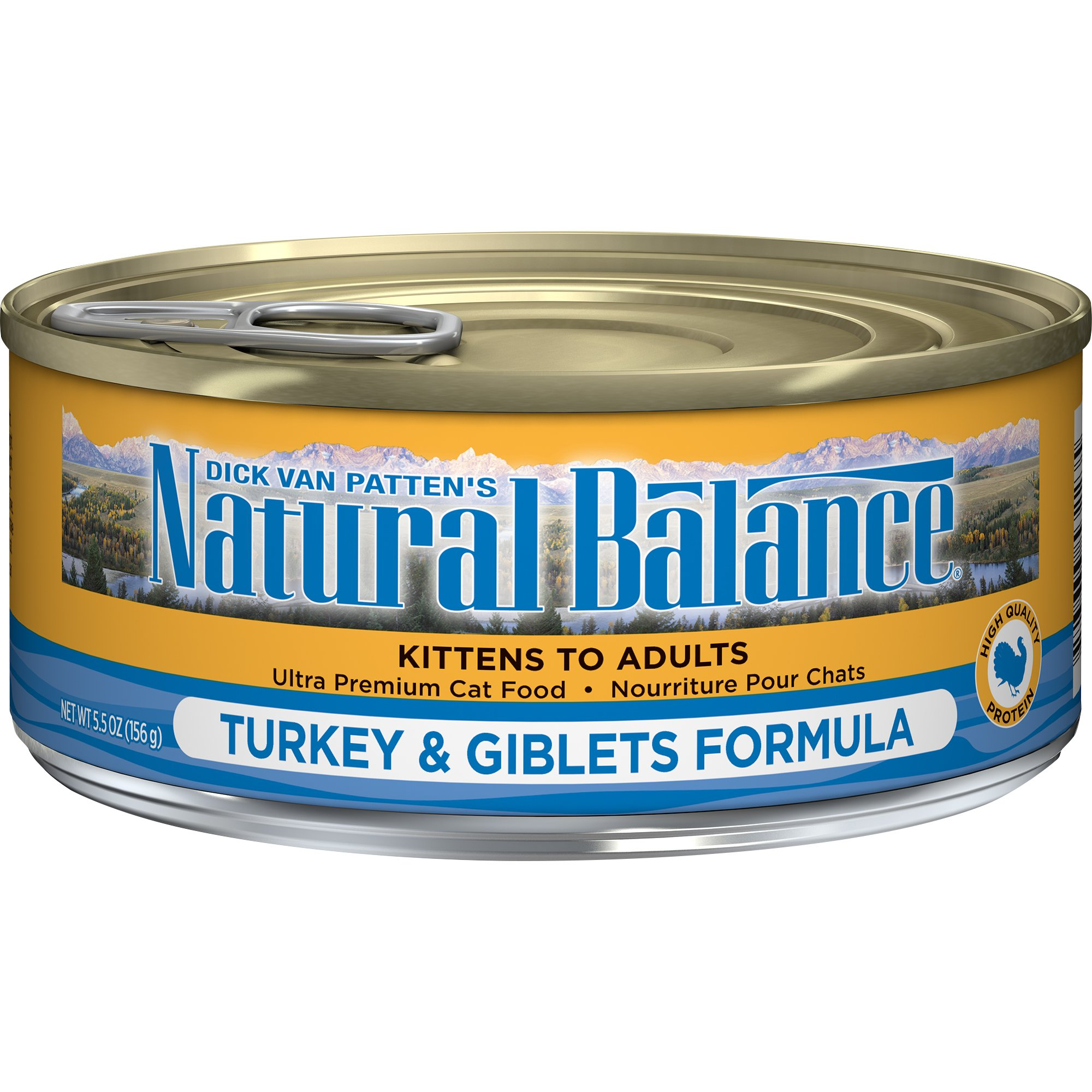 Natural Balance Turkey & Giblets Formula Wet Cat Food, 5.5-Ounce Can (Pack Of 24) by Natural Balance (Image #1)