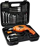 Black+Decker HD455KA 10mm 550 Watt Impact Drill Kit (Orange, 41-Pieces) + Stanley 3-meter Tough Case Tape