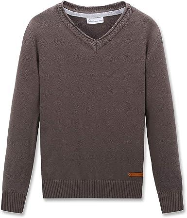 Lishui Boys Knit Cardigan Kids Children V-Neck Jumper Sweaters Jacket