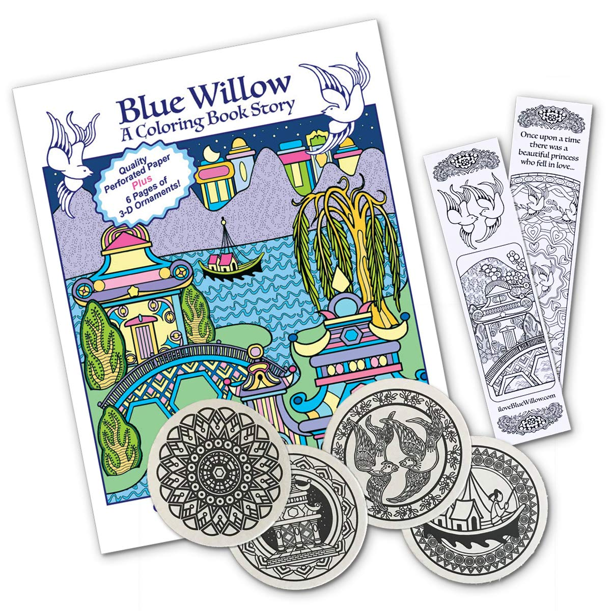 Blue Willow - A Coloring Book Story - Get the Book, 4 Coloring ...