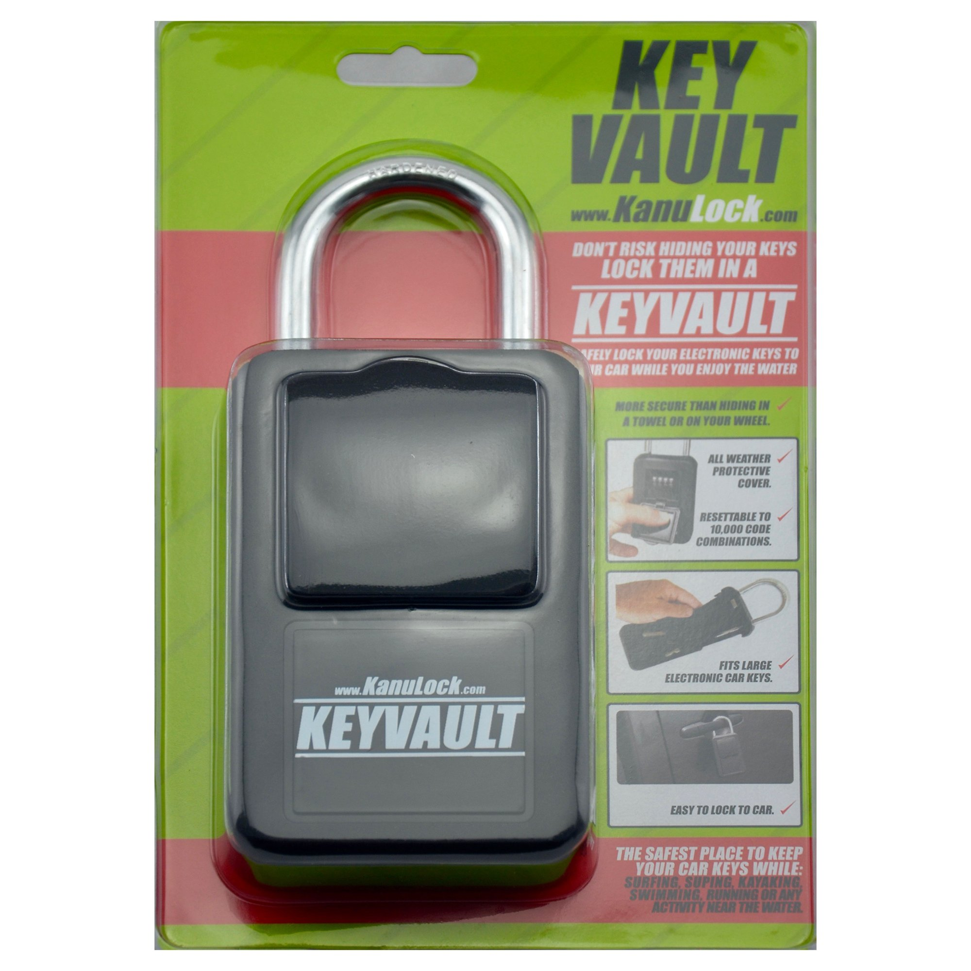 KanuLock KeyVault Key Storage Lock Box with Set Your Own Combination by KanuLock