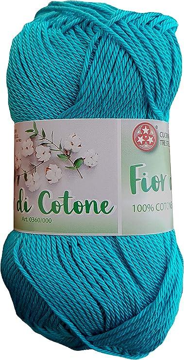 Cosido de Tres Estrellas, Flor de algodón (50 g), 100% algodón ...