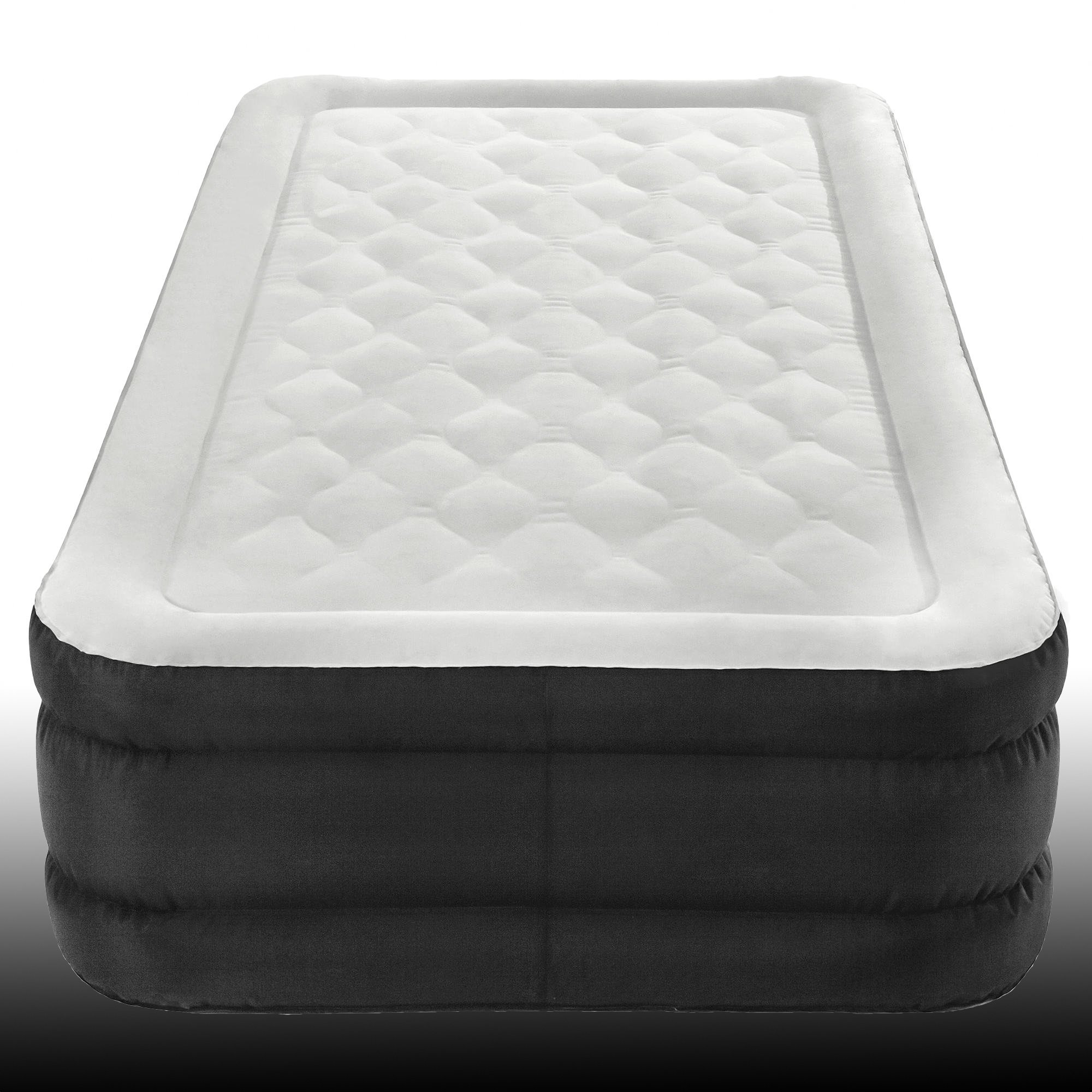 Elevated Air Bed, Black Colour, Polyvinyl Chloride Material, Electric Pump Included, Durable And Sturdy Construction, Guarantee Included, Ideal For Any Home, Comfortable And Stylish & E-Book
