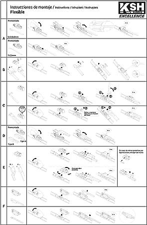 3210.0170600-1 unit/é 60 cm Flexible Balai ESSUIE Glaces KSH-Excellence
