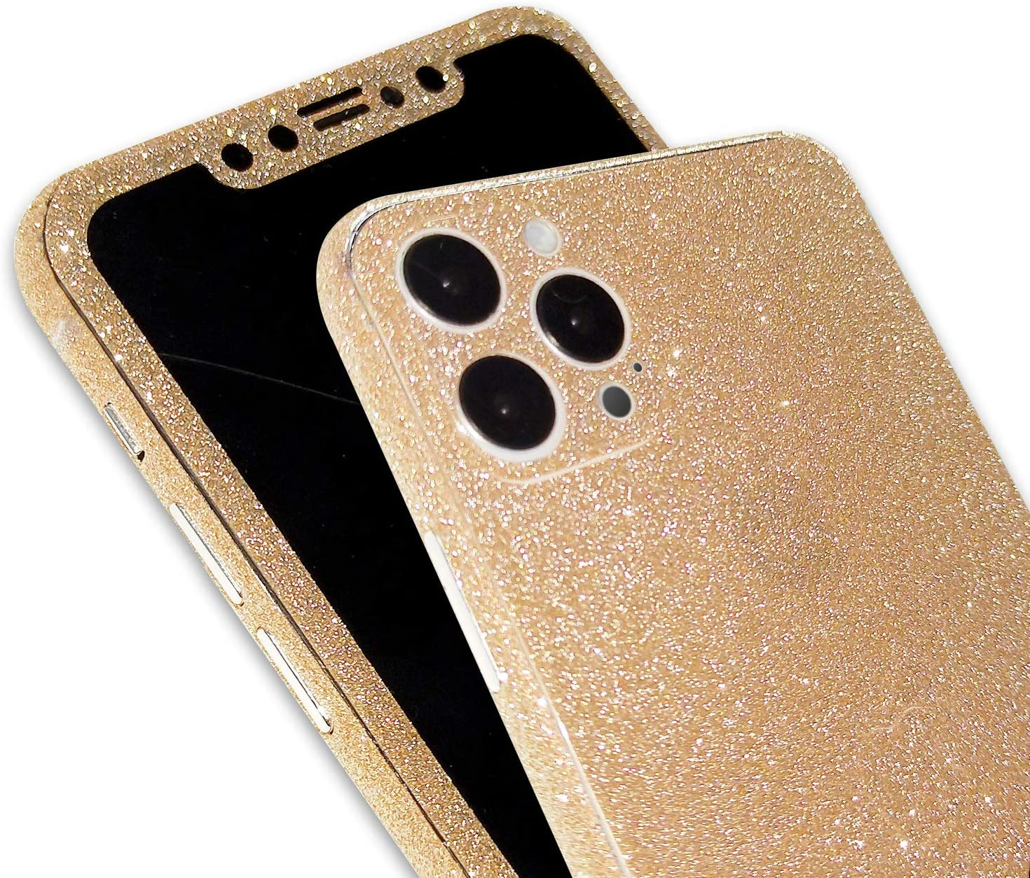 Omio for iPhone 12 Pro Glitter Skin Sticker Ultra Thin Sparkle Bling Diamond Full Body Wrap Covered Edges Precise Fit Dustproof Anti Fingerprint Scratch-Resistant Skin Decal for iPhone 12 Pro
