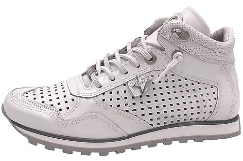 Cetti C1048 CH sweit Blanco - Zapatillas de Piel para Mujer Blanco Weiß, Color Blanco, Talla 41 EU: Amazon.es: Zapatos y complementos