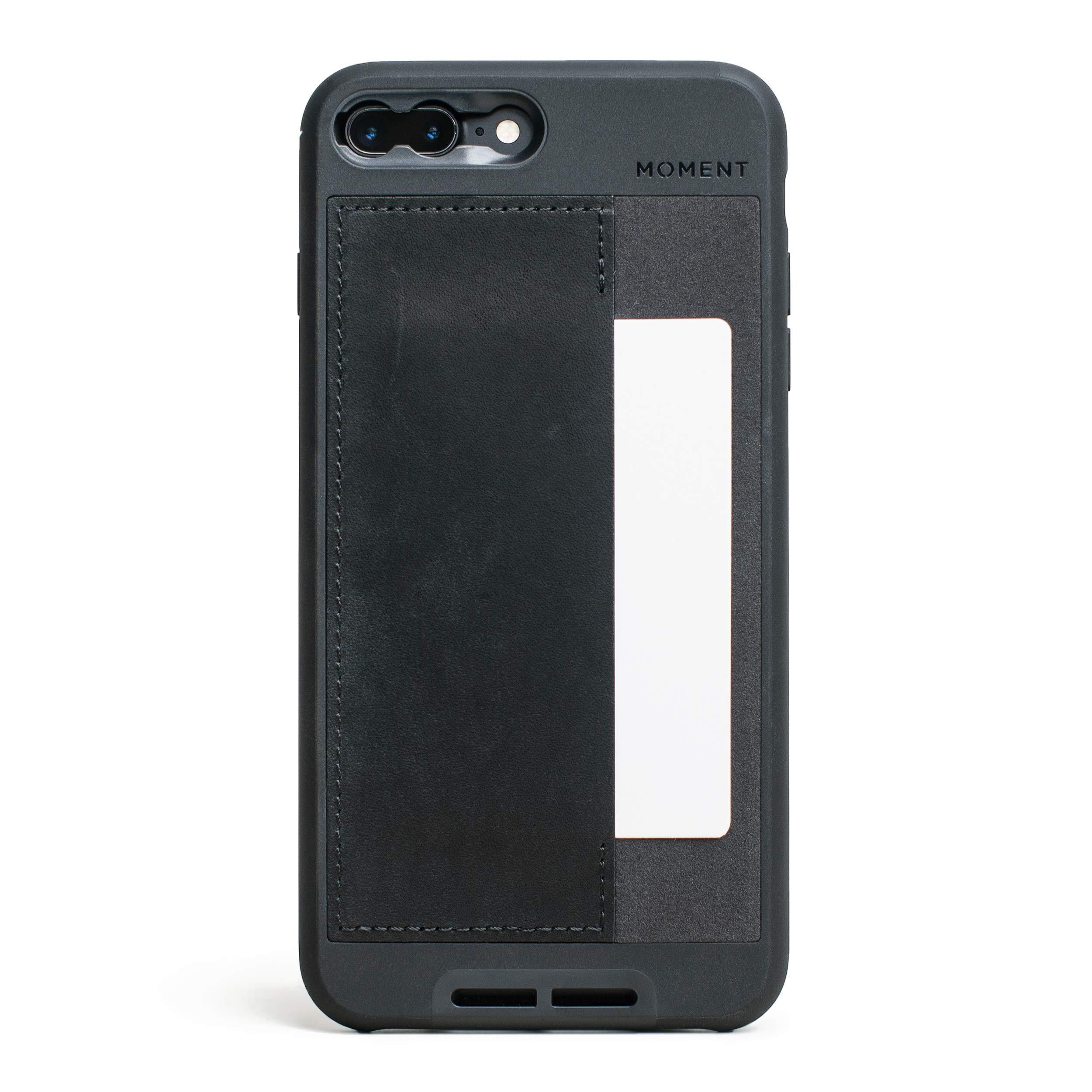 ویکالا · خرید  اصل اورجینال · خرید از آمازون · iPhone 7 Plus / 8 Plus Wallet Case || Moment Photo Case in Black Leather - Thin, Protective, Wrist Strap Friendly Wallet case for Camera Lovers. wekala · ویکالا