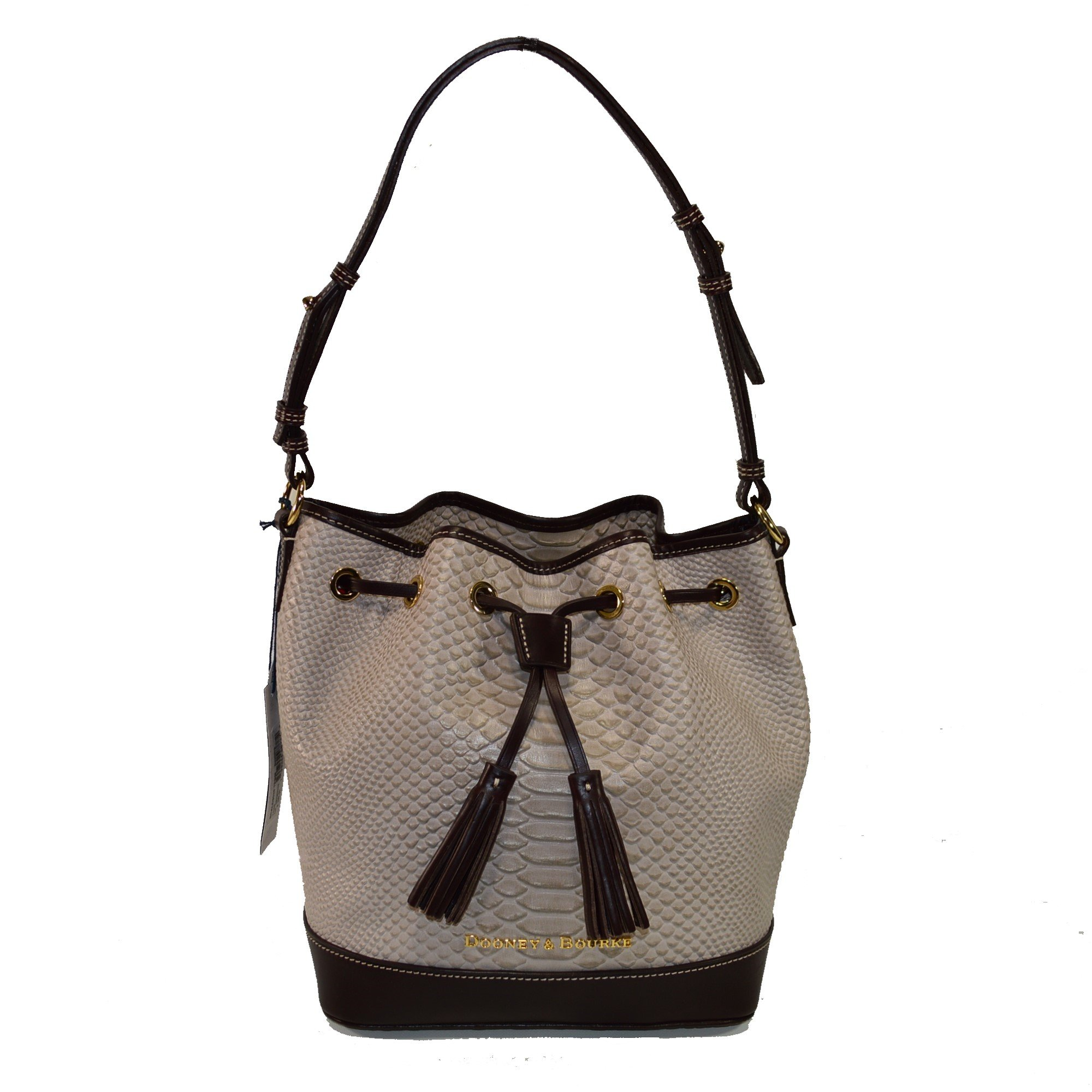 Dooney & Bourke Cordova Leather Drawstring Bag BCALD9038 Taupe