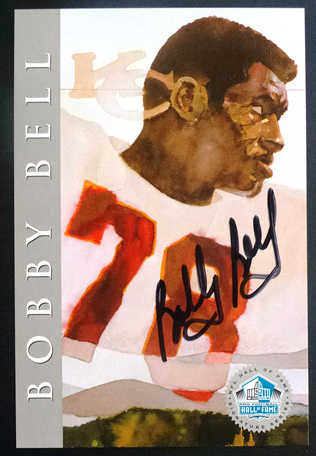 PRO FOOTBALL HALL OF FAME Bobby Bell 1998 Platinum Signature Series NFL HOF Signed Autograph Limited Edition Card