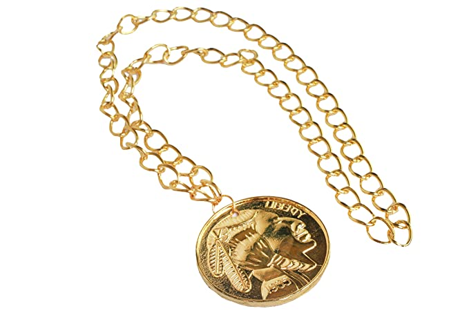 Amazon.com  Gold Gangster Medallion Necklace  Clothing d3ccc22485