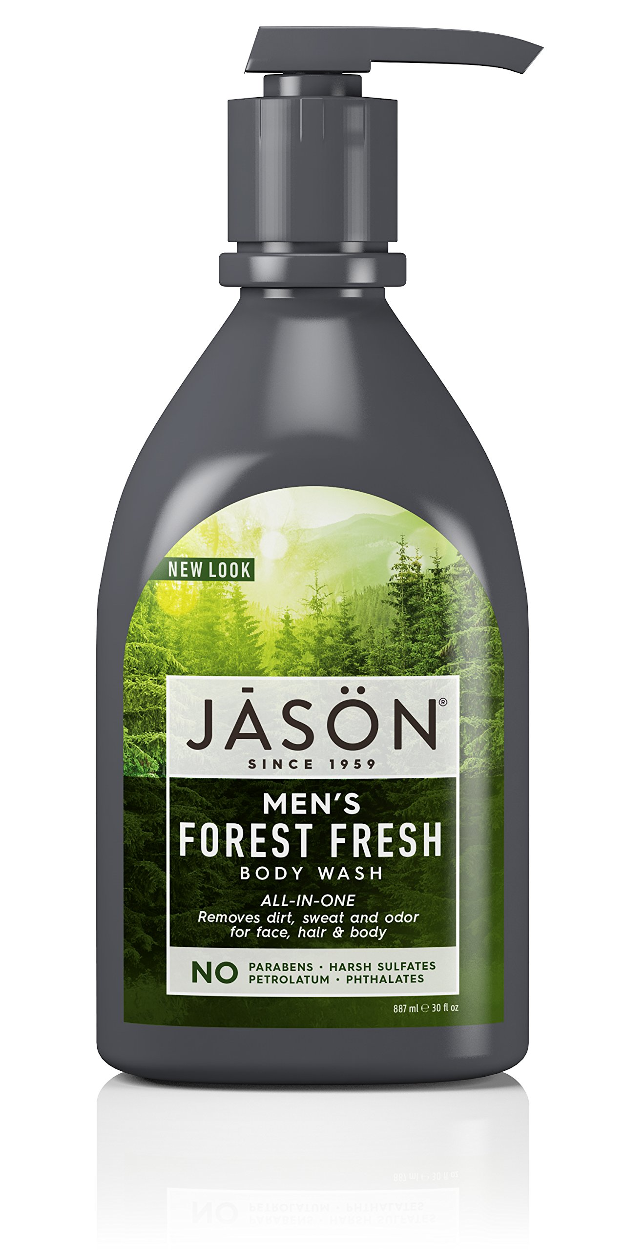 JASON Men's All-in-One Body Wash, 30 Fl Oz (Packaging May Vary)