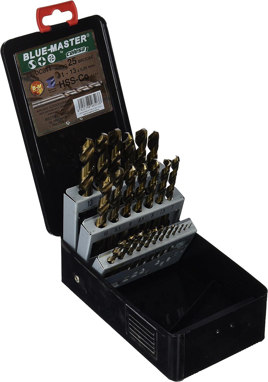 Celesa - Estuche metalico/a 25 brocas rectificada hss-co 5%: Amazon.es: Bricolaje y herramientas