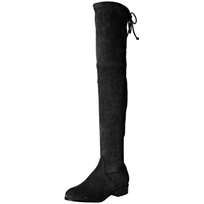 cbfca52f0da Kaitlyn Pan Women s Microsuede Flat Heel Over The Knee Thigh High Boots  (37.5 CN 7 US 37 EU