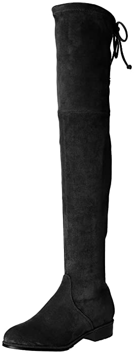 78d0395af91 Kaitlyn Pan Women s Microsuede Flat Heel Over The Knee Thigh High Boots  (5.5US