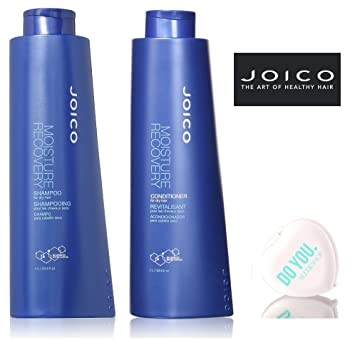 Joico Moisture Recovery Shampoo & Conditioner for dry hair DUO Set (with  Sleek Compact