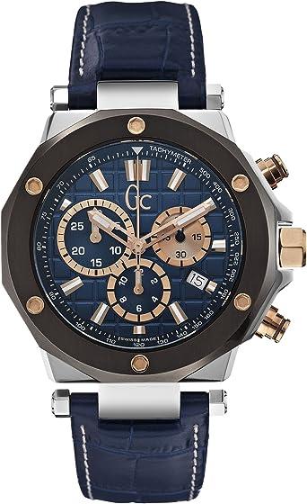 Guess X72025G7S - Reloj para Hombres, Correa de Cuero Color Azul: Amazon.es: Relojes