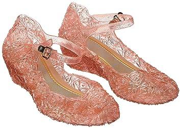 Katara ES10 Scarpe Tacco Principessa Elsa Cenerentola Bambine Costumi  Carnevale Halloween EU 27 (17cm) - rosa  Amazon.it  Giochi e giocattoli 11fd9f52d9a